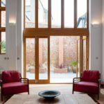 High ceilings and light living spaces throughout