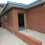 New ramped entrance to extension