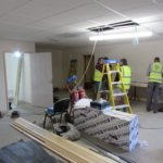 Electrical services being installed