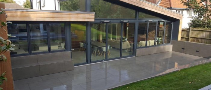 Contemporary extension to ground floor designed by award winning architect, London Road, Deal