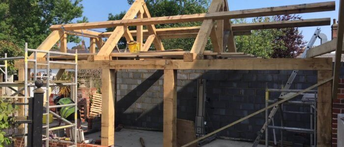 Oak Framed Extension to Grade 2 Listed Property, Bridge, Canterbury